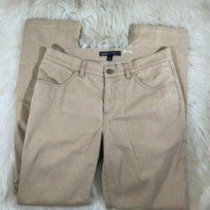 Lafayette 148 New York Skinny Khaki Size 2 Denim B
